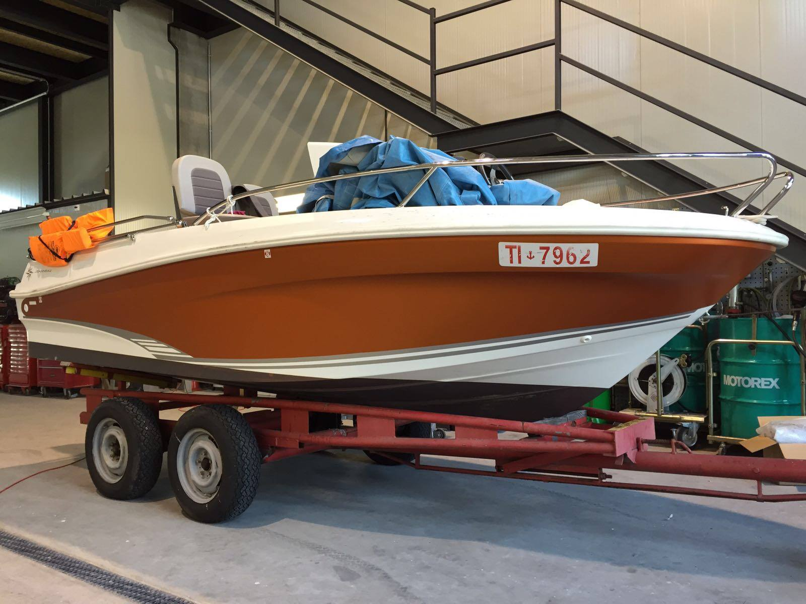 Boat Wrapping Satin Canyon Copper