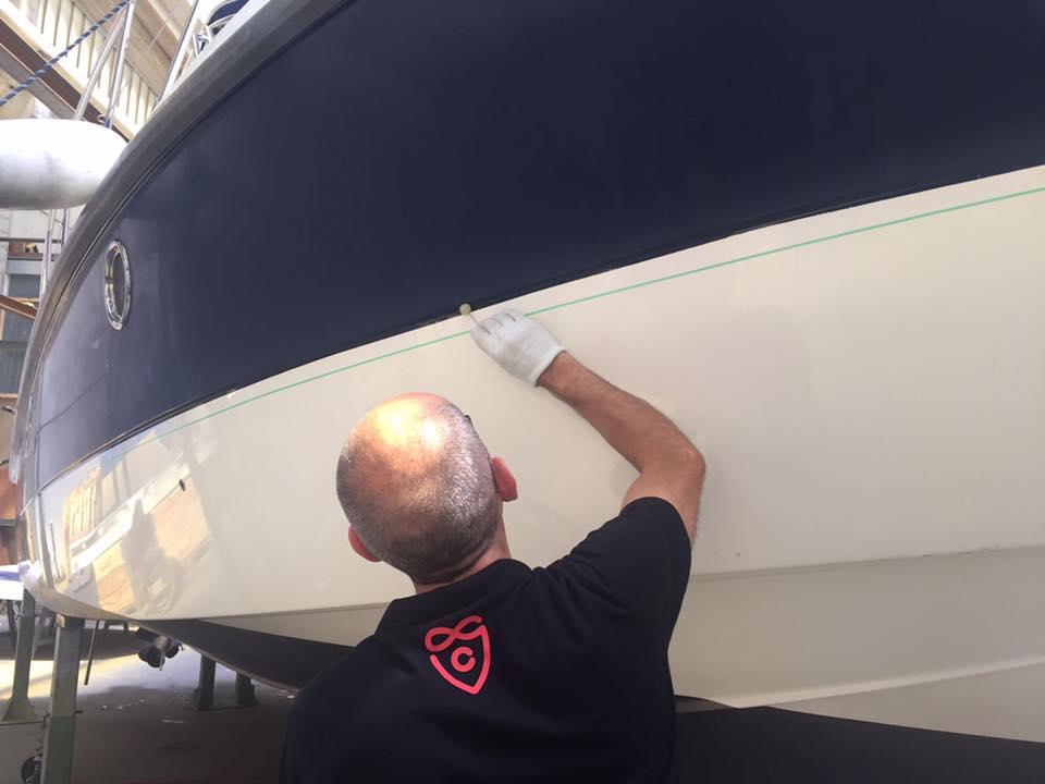 Boat Wrapping Cranchi Zaffiro 32″