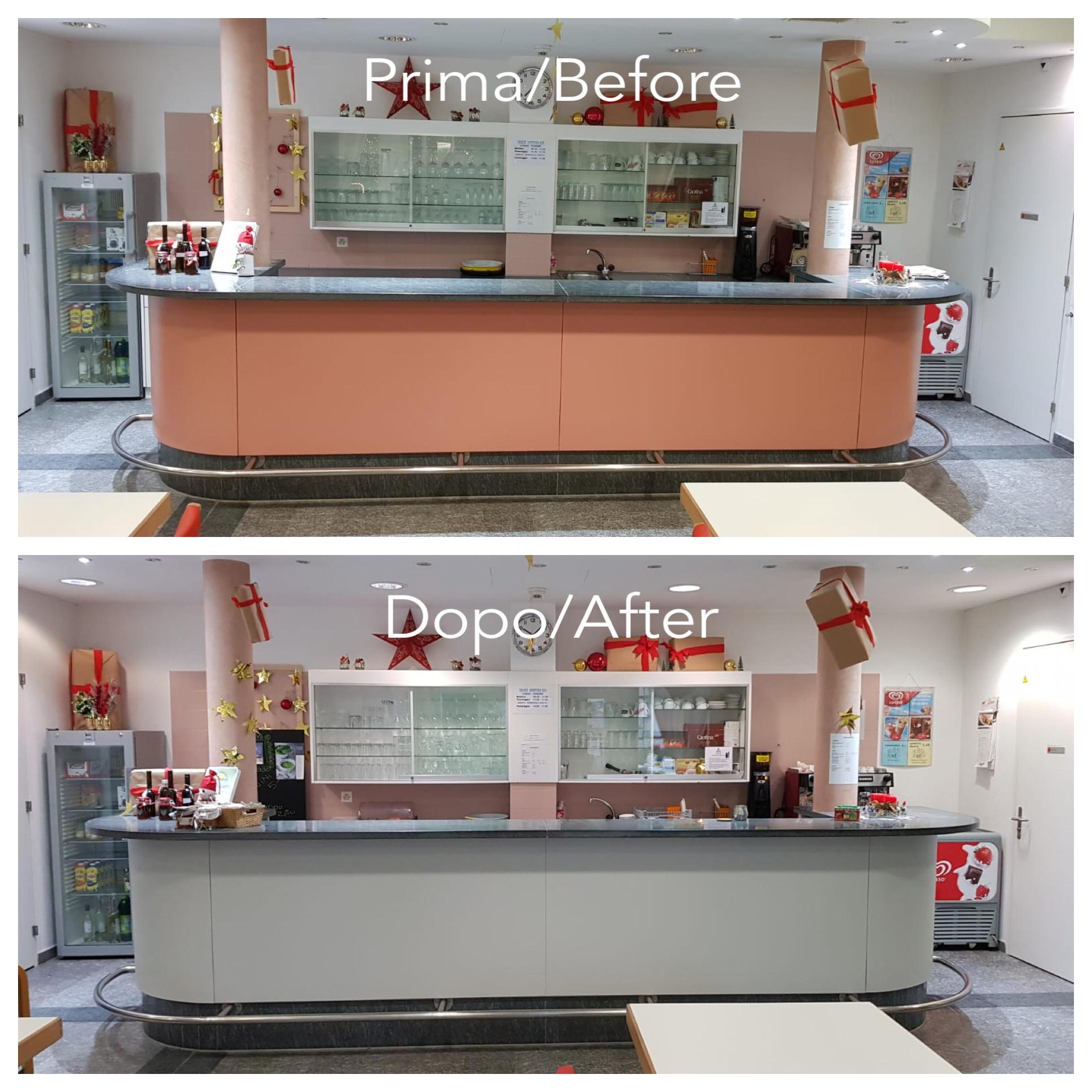Bancone Bar Per Casa rivestimento bancone bar casa anziani - coating bar counter